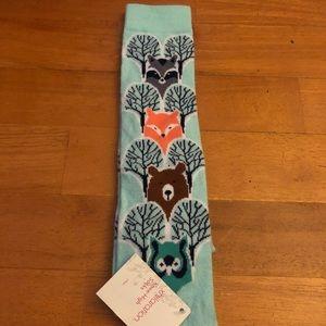 2/$15 Animal Tree Knee High Socks
